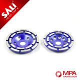 колесо диаманта рядка двойника высокого качества 180mm Китай полируя