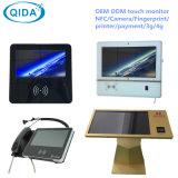 통신망 대화식 간이 건축물 최고 호리호리한 IR LCD 접촉 토템