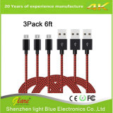 De Nylon de alta velocidade USB 2.0 Trançada cabo de carga