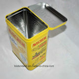 Custom rectangular de grado alimenticio animal Food Packaging caja de la lata, Pet Food Packaging caja de la lata con tapa abatible