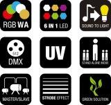 Innenwäsche-Stab-Licht des Leistungs-Pixel-6in1 LED