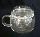 ホーム茶創造的なコーヒー・マグの倍の壁ガラスのコップ