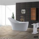 Vasca da bagno di superficie solida acrilica della pietra della resina del bagno dell'hotel di Kkr