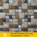 Смесь смолы Обои стеклянной мозаики из камня и металла