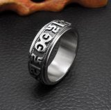 Religion Textes Pattern 316L Stainless Steel Ring Unisex Jewellery