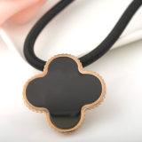 Blatt-Klee-hängende Blumen-Halskette des Frauen-Schmucksache-Edelstahl-vier