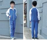 Terno de treino uniforme da escola, Trajes de esportes infantis para crianças da escola