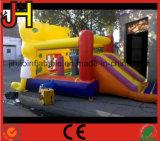 漫画デザイン子供のための膨脹可能な跳躍の警備員の城
