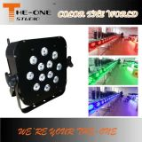 Wireless 12X17W RGBWA + UV 6in1 LED Flat PAR Can
