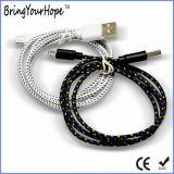 De nylon Stof Gevlechte Kabel van de Last van Sync USB voor iPhone & Androïde Telefoon