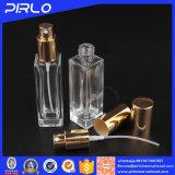 30ml 1oz rechteckige Form-Glasduftstoff-Flasche mit Aluminiumsprüher