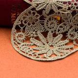 Broderie métallisée élastique en dentelle pour la robe Lady`S