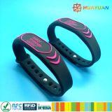 Muestras gratis MIFARE Classic EV1 pulsera de silicona de RFID para gimnasio