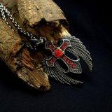 La manera pendiente de circón cruz hombres colgantes accesorios de acero de titanio