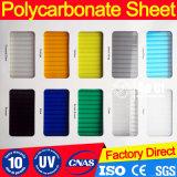 8mm meer-Blauwe Polycarbnate Van uitstekende kwaliteit voor het Blad van de tweeling-Muur Rooflights