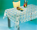 工場卸し売り安いテーブルクロスPVC物質的な透過テーブルクロス(TT0284)