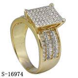 l'oro 14k ha placcato l'anello d'argento Hotsale dei monili 925