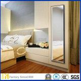 Fabricación de la fábrica Espejo permanente decorativo Espejo sin marco para el dormitorio
