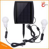del bulbo solar del panel solar 6V luz al aire libre solar accionada LED con el bulbo 2