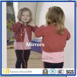 espejo de plata decorativo claro de la pared de 4m m, espejo del bebé