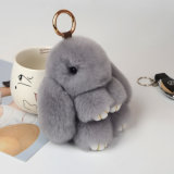 Segurança Plush Toy Stuffed Keychain White Rabbit
