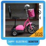 電池式の3つの車輪の電気スクーター