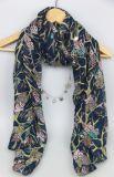 Sjaal van de Druk van de Polyester van 100% vormt de Blauwe, Bijkomende Sjaal