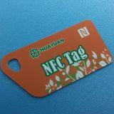 Van de het embleemRFID loyaliteit NTAG213 NFC van de douane de Zeer belangrijke markering van pvc