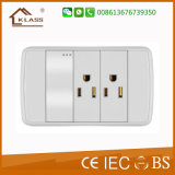 Nuevo diseño 1 Gang 15AMP Double 3 Pole Switched Socket