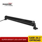 20.3 '' barres simples simples d'éclairage LED du CREE 54W DEL de rangée pour tous terrains