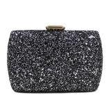 熱い方法ラインストーンの女性袋のクラッチ・バッグEb876を均等にする光沢があるハンドバッグの金または銀製か黒い女性