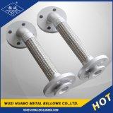 Tuyau métallique flexible ondulé en acier inoxydable avec extrémité de bride