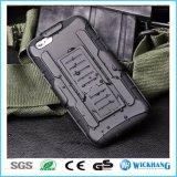 Caisse antichoc hybride d'étui de clip ceinture d'armure pour l'iPhone 8