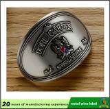 Contrassegno dell'emblema del vino stampato alluminio 3D del metallo con il buon autoadesivo