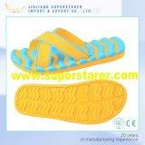 Homens EVA Water Wave Printed Palmilha X Strap Fabric Upper Colorido Mans Bath Slipper