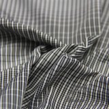 75D 270t de agua y ropa deportiva al aire libre Wind-Resistant Down Jacket tejido Jacquard Plaid 100% poliéster filamento hilo negro de tela (FJ019)