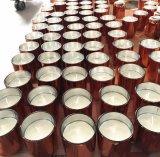 Nieuwe Luxe Gebemerkte Kaars in de Reeks van de Kop van de Drinkbeker van het Glas van het Kristal van Twee met de Zilveren Verpakking van de Doos van het Venster van de Gift