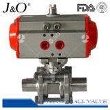 3PCS 1000wog válvula de bola neumática