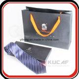 Het professionele Verpakkende Vakje van de Vlinderdas van het Document van het Embleem van de Folie van de Fabriek Zilveren Hete