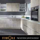 Armadi da cucina di base della melammina della lacca con il preventivo di progetto Tivo-0081h su ordine