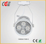 AC85-265V la vía de mazorca de luces LED LED blanco negro de la luz de la vía foco LED de iluminación de pista de las lámparas PAR30 para la exposición de lámparas de interior