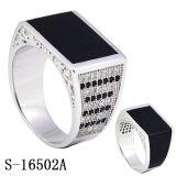 Anéis de prata dos homens da CZ da jóia da forma do modelo novo 925 do anel do homem