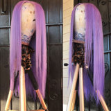 Фиолетовый Glueless полного кружева Wig прямые волосы человеческого волоса Wig Бразилии