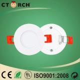 Indicatore luminoso di comitato celato rotondo ultrasottile di 4W LED con Ce/RoHS