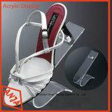 アクリルの単一の靴の表示ホールダー、プレキシガラスの靴の陳列台