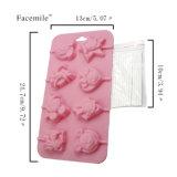 Новый продукт сертификат FDA Food Grade силиконового материала в форме пресс-форм, Мауса силиконового герметика пудинг / Пресс-Мауса образной формы Lollipop /шоколад пресс-формы