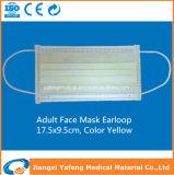 Maschera di protezione a gettare non tessuta medica con colore verde del ciclo dell'orecchio