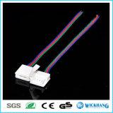 10mm 4pin de Kabel van de Schakelaar Solderless voor het 5050 RGB Waterdichte LEIDENE Licht van de Strook
