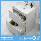Assoalho e mobília fixada na parede do banheiro com 2 gavetas e 2 portas (BF377D)