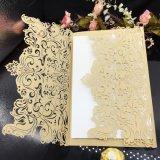 Scheda dell'invito di cerimonia nuziale della scheda della perla personalizzata nuovo disegno